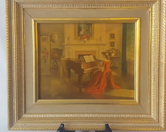 Vintage Turner Wall Accessory Framed Watercolor Print