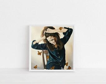 Mona Lisa, art print, original, original painting, art print, oil painting, realism, happy art, woman, portrait, oil, fine art, wall art