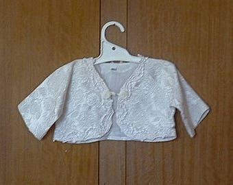 Baby girls Baptism jacket, Vintage jacket, Cream jacket, size 12 months