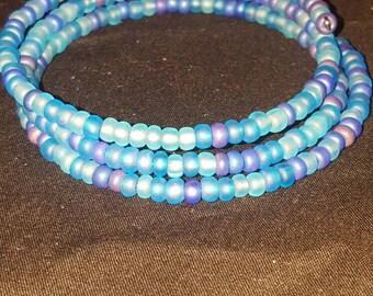 Memory Wire Bracelet - Blue