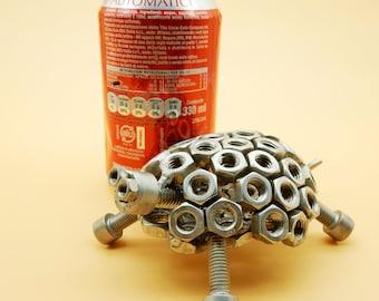 Tortue tortue turtle tortue tortue Noël cadeau artistique art metal sculpture acier metal art du recyclage recyclé