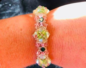 Bracelet, Jewelry, Swarovski Crystals, Custom made wedding jewerly, Bridal Party