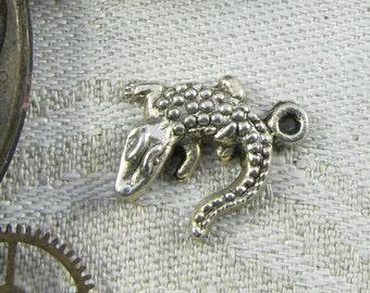 1 or 10, Crocodile, Alligator, Crocodile Charm, Alligator Charm, Everglades, Gator Charm, Animal Charms, Silver Gator, ANM020