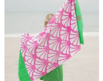 Hot Pink Shelly Beach Towel