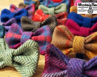 Harris Tweed Dog Bows - Bow Ties