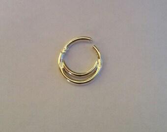 Double Septum Ring - Septum Clicker - Septum Ring - Custom Nose Ring - Clicker 14k - Septum clicker 16g - nose ring - septum piercing