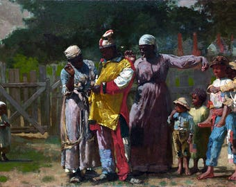 Dressing For The Carnival Painting by Winslow Homer Art Reproduction