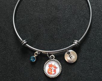 Fox Initial Bangle Fox Initial Bracelet