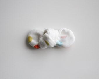 Confetti Organic Knot Bow Clip