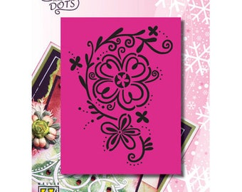 Grid Nellie flower arabesque 9 x 11, 5 cm_LD008