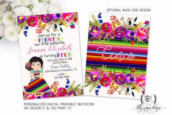 Invitacion Fiesta Mexicana Editable