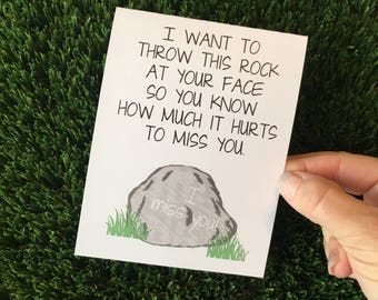 Funny I miss You card - It Hurts to Miss You