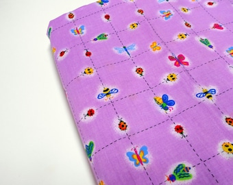 Lavender Sewing Fabric,  by Jennifer Brinley, 1 yd Quilting Cotton, Lady Bugs, Dragonflies, Bees