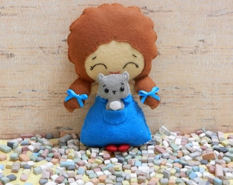 Felt Dorothy and Toto Wizard of Oz Softie Plushie by Noialand