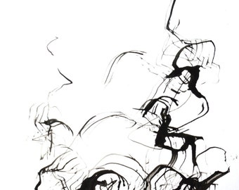 Original abstract art ink drawing, Black and white abstract art, modern, minimal, ink art, original abstract drawing, abstract painting, art