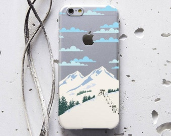 Mountains Snow Phone Case iPhone 7 Case iPhone 7 Plus Case iPhone 8 Case Galaxy S6 Case iPhone 6s Plus Case Samsung S7 Case Note 4 WC1177