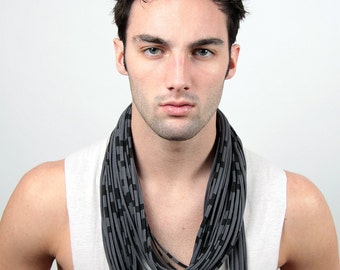 Infinity Scarf, Boyfriend Gift, Gift for Men, Festival, Mens Scarf, Gift for Husband, Man Gifts, Burning Man, Mens Necklace, Mens Jewelry