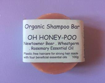 OH HONEY POO - Shampoo Bar, Organic Shampoo, Natural Shampoo, Rosemary, Beer, Honey, Orange, Ylang Ylang Shampoo