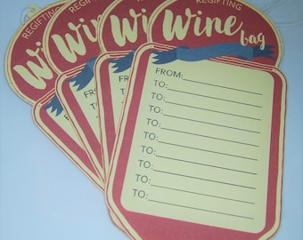 Regifting Wine Bag Tags