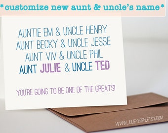 CUSTOM Famous Aunts & Uncles | Pregnancy Announcement