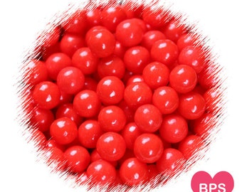 Red Sugar Pearls, Red Sprinkles, Red Candy Pearl Sprinkles, Large Red Candy Beads, 7mm Sugar Pearls, Christmas Sprinkles, Valentine's Day