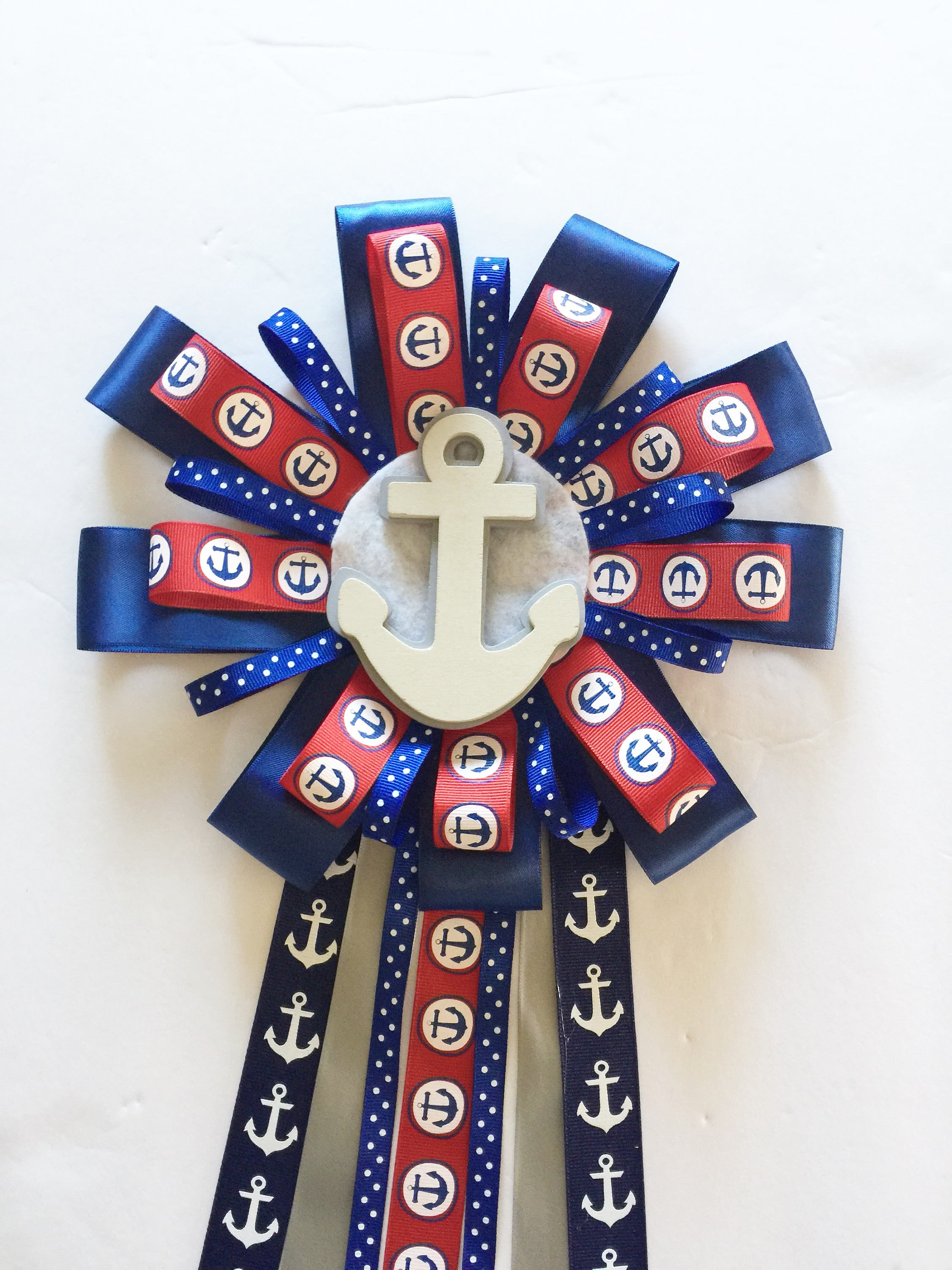 Nautical Mom To Be Corsage , Mum Anchor Theme Baby Shower Mom To Be Ribbon,  Mom To Be Pin, Bling Baby Shower Corsage