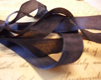 Navy Blue Vintage Seam Binding Ribbon