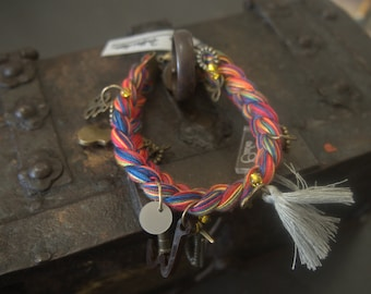 Braided Bracelet with charms