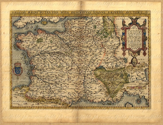 Map of france from 1500s french paris ancient old world gumiabroncs Choice Image