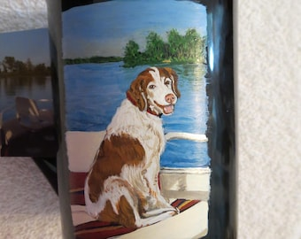 Pet Portrait Hand Painted Coffee Mugs 16oz Made to Order Boats and Brittany's by Shannon Ivins Pigatopia