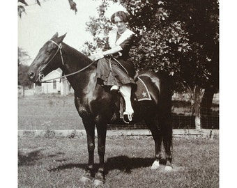 1900s Horse Photograph - Horseback Riding Photograph