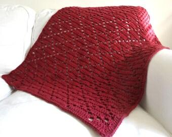 Diamond Eyelet Blanket - PDF Crochet Pattern - Instant Download