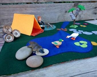 Felt Play Mat, Play Mat, Toddler Play Mat, Camping play mat, felt playmat, playmat, camping playmat,  Toddler playmat