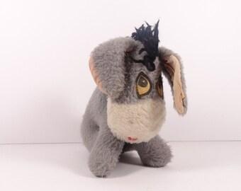 Eeyore Gund Sweden Stuffed Animal, Vintage Winnie the Pooh Eeyore Plush soft Sculpture Toy, Vintage Childrens Toy