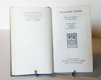 Vintage book English Verse Dryden to Wordsworth Poetry classics Byron William Cowper Robert Burns gift poems
