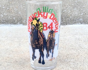 Vintage 1984 Kentucky Derby Glass