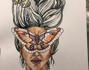 Moth Woman Print