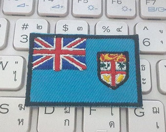 Fiji Flag Applique Embroidered Iron on Patch