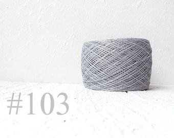 Light gray linen crochet thread 3ply # 103
