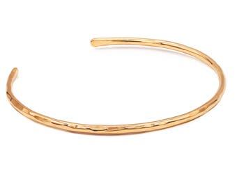 Rose Gold Hammered Cuff Bracelet