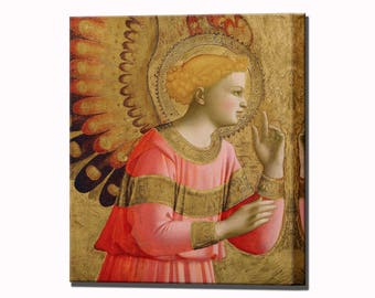 Annunciatory Angel Fra Angelico Home Decor Canvas Art Canvas Print Wall Art Print Ready to Hang