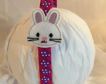Headband- bunny- rabbit- Easter Bunny Headband- bunny headband- hair accessory- gift for girl- purple headband- Easter headband