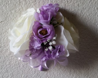 Ivory Lavender Rose Corsage or Boutonniere