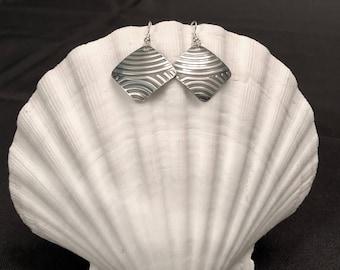 Square Sterling Silver Dangle Earrings