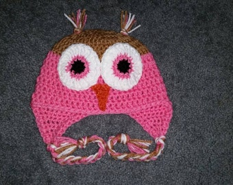 Custom Crochet Owl Hat - 4 Colors Available