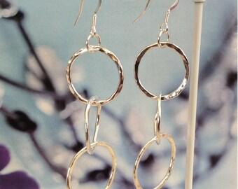 Sterling Silver Three Hoop Earrings