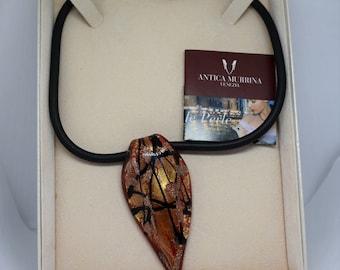 Vintage Antica Murrina Venezia glass pendant necklace