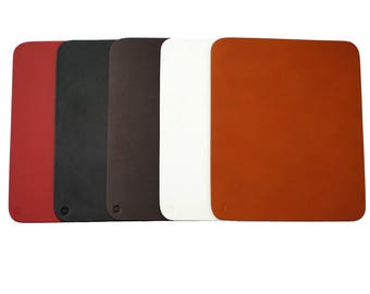 Roco Verre Genuine Real Hide Leather Mouse Mat