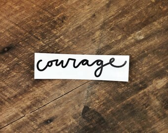 courage // Temporary Tattoo
