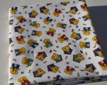Flannel Receiving Blanket, Cute Dog Blanket, Baby Blanket, Dogs and Dog Houses, Swaddle Blanket, Large Blanket, Flannel Blanket, Cute Dogs